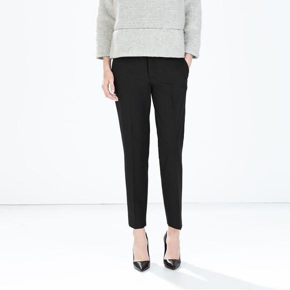 Zara woman combined office Stylish M5b494902fe51518f9ce76987 Gerdanco Zara Pants Woman Trousers With Slit At The Hem Poshmark
